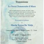 """Personale di pittura """"Transizione – La Terra l'Ammonite il Mare"""" di Maria Teresa De Nittis"""