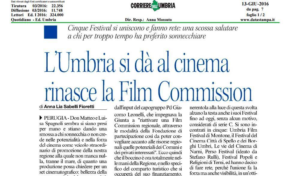 Nasce la Rete dei festival cinematografici dell'Umbria