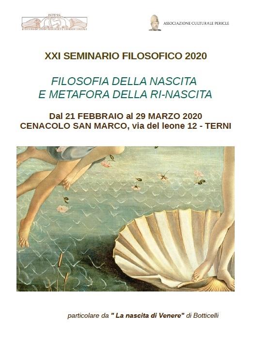 XX Seminario filosofico – Filosofia della nascita e metafora della ri-nascita