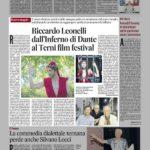 Riccardo Leonelli dall'Inferno di Dante al Terni film festival