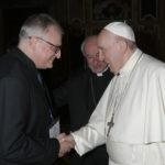 Il direttore Arnaldo Casali ha incontrato papa Francesco